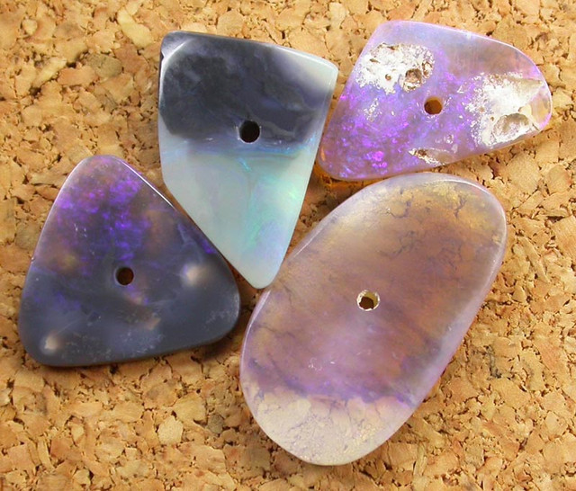 OPAL BEADS  FROM LIGHTNING RIDGE DRILLED 7.20 CTS [MS2838]