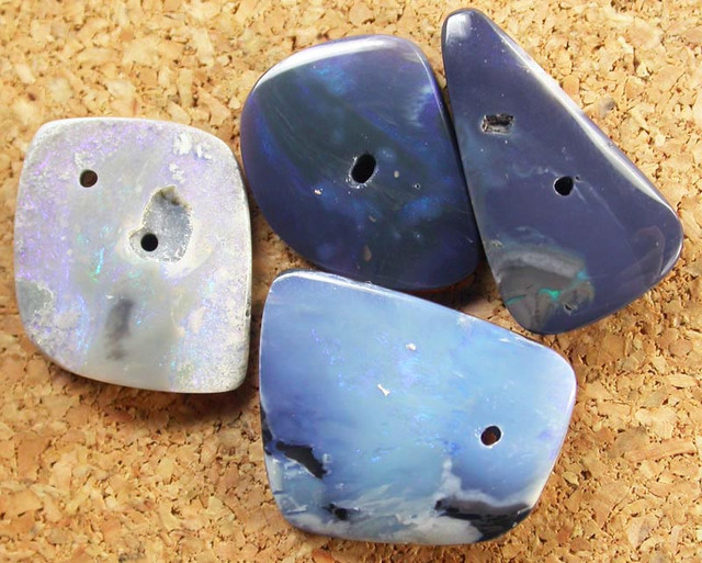 OPAL BEADS  FROM LIGHTNING RIDGE DRILLED 27.75 CTS [MS2852]