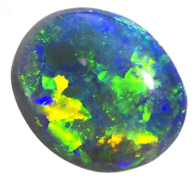 STUNNING RICH BLACK OPAL GEM FIRE QUALITY 1.00 CARAT SS 834