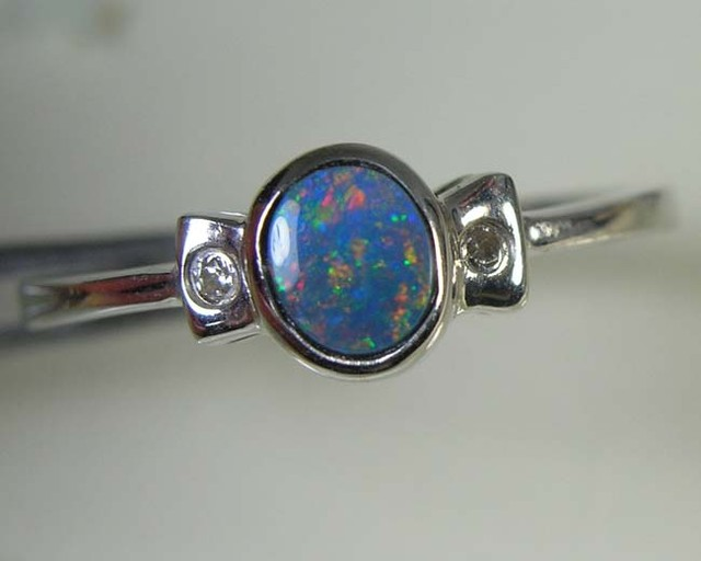 SOLID OPAL 925 SILVER RING SIZE 6 #AR/77