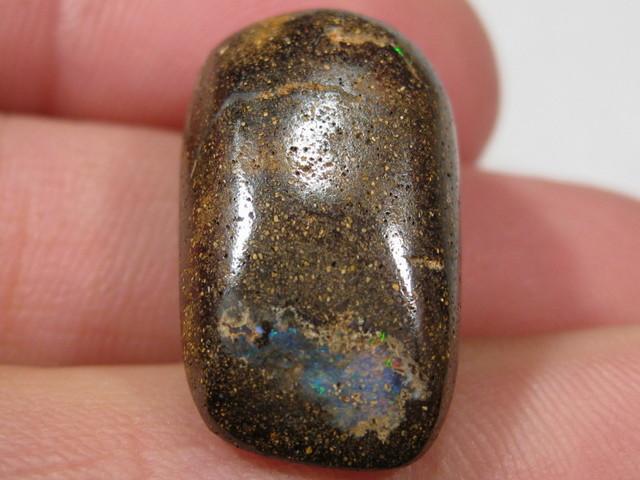 Side Drilled Boulder Opal.