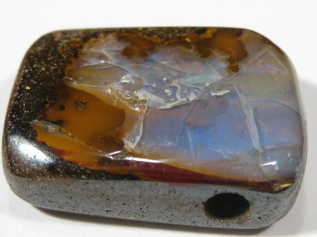 Boulder Opal - Drilled for Pendant.