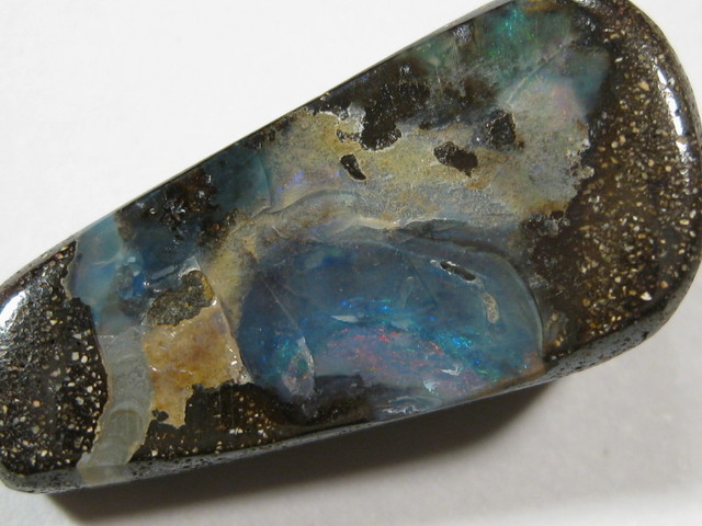 Drilled Boulder Opal From Queensland Australia.