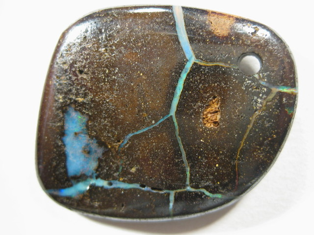Drilled Boulder Opal Ready for Pendant/Necklace.