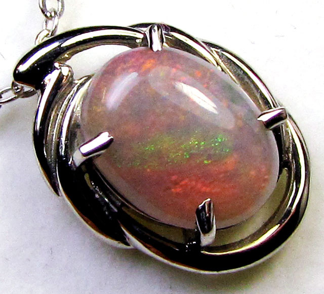 RED FIRE CRYSTAL  OPAL  18 K GOLD  PENDANT  CK 108