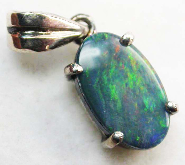 Doublet opal pendant 18 k white gold ck 170 aloadofball Gallery