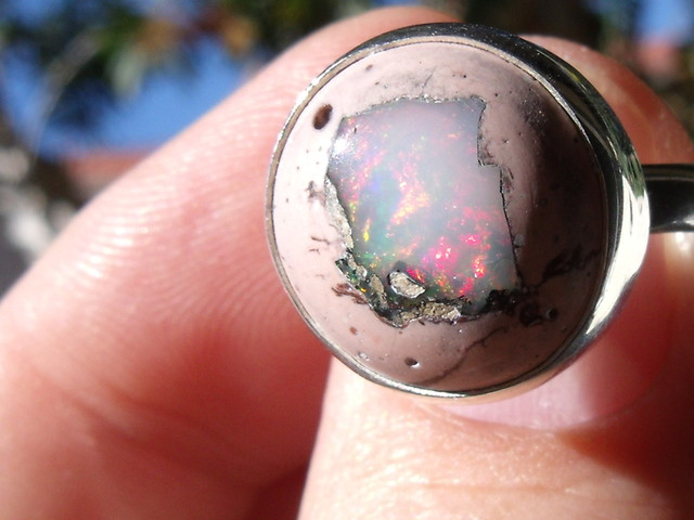 MATRIX OPAL GEM TAXCO RING SIZE 7.75