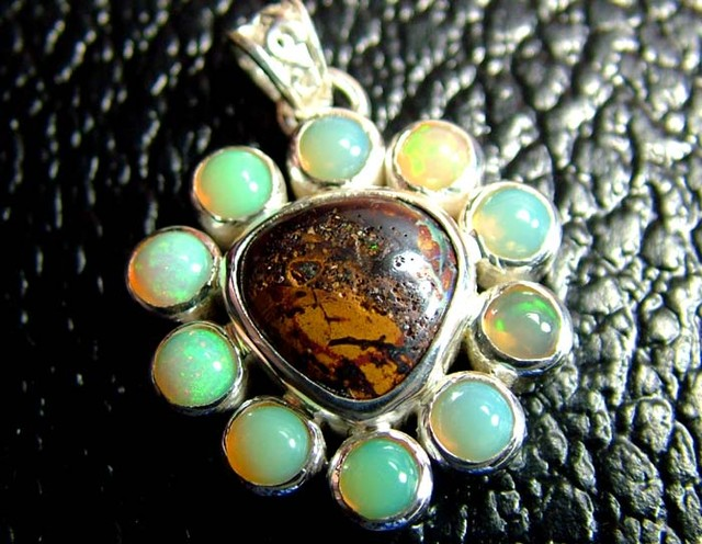 37.70 CTS  ETHIOPIAN OPAL SILVER PENDANT  OF-1766