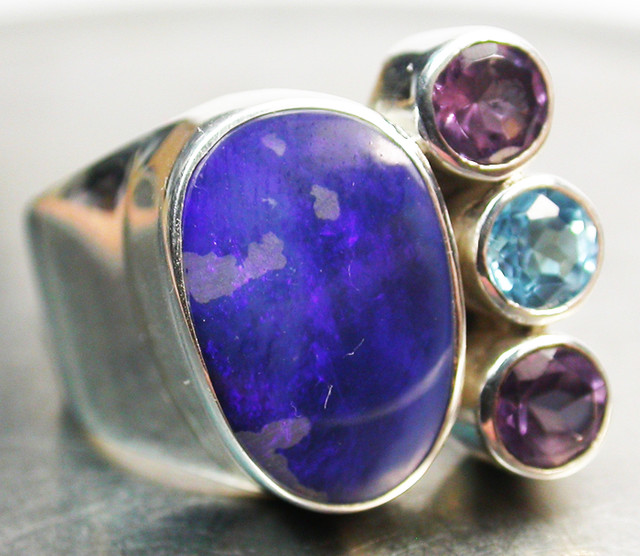 41.00 CTS DOUBLET/GEMSTONE RING SIZE 6 FACTORY [SOJ647]
