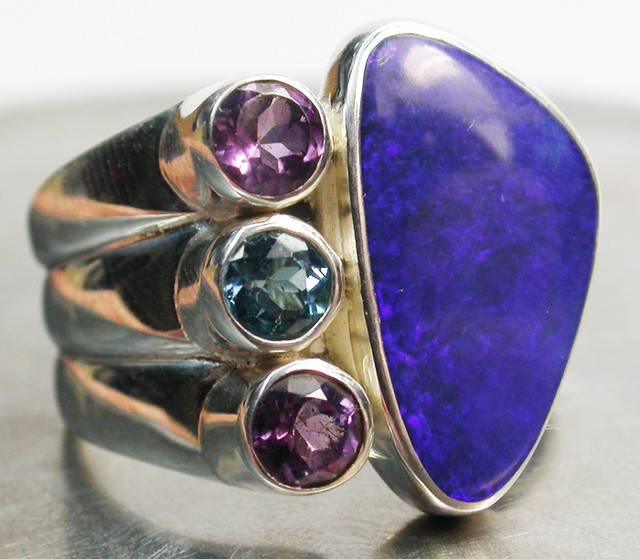 45.50 CTS DOUBLET/GEMSTONE RING SIZE 10 FACTORY [SOJ653]