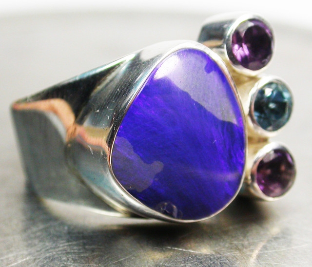 41.00 CTS DOUBLET/GEMSTONE RING SIZE 8 FACTORY [SOJ655]
