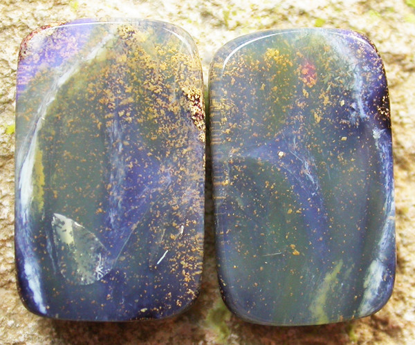 11.55 CTS BOULDER  OPAL PAIR -WELL POLISHED  [MS3347]
