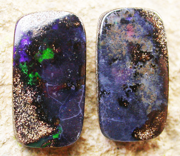 7.50 CTS BOULDER  OPAL PAIR -WELL POLISHED  [MS3352]