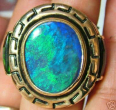 stolen  do not bid 140 CTS AAA  OPAL SOLID MENS RING 14K GOLD  (TBO)