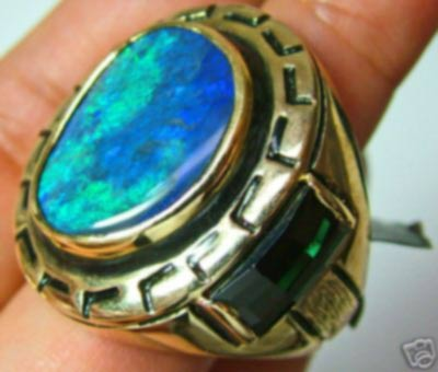 stolen do not bid 140 CTS AAA OPAL SOLID MENS RING