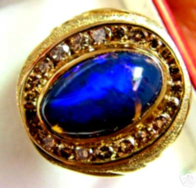 stolen do not bid 125 CTS OPAL SOLID MENS RING 14K GOLD RRP$6000