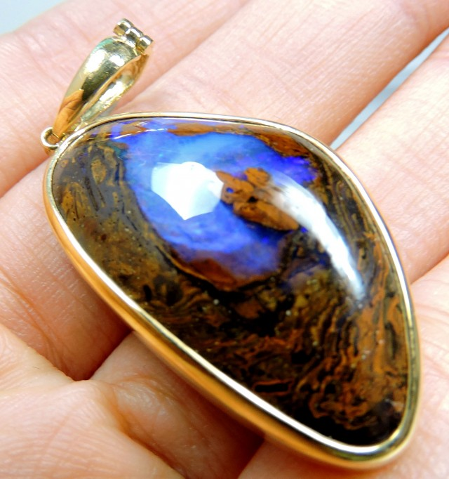 LARGE PURPLE SOLID BOULDER OPAL PENDANT SCO485