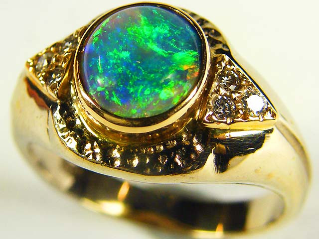 GEM BLACK OPAL RING SIZE 7 SCO491