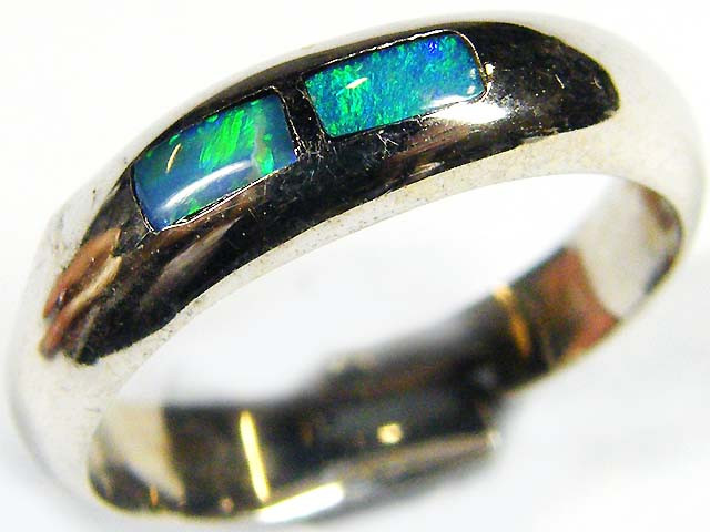 OPAL INLAY RING SIZE 7 SCO608