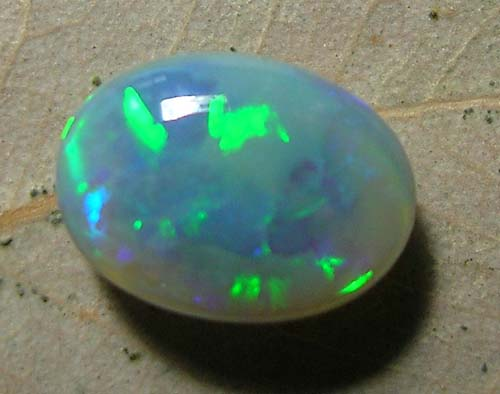 *ONA* FREE  SHIPPING L/RIDGE BLACK OPAL  0.80ct  [ H142307]