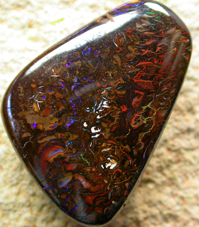 53.15 CTS BEAUTIFUL PATTERNED YOWAH STONE [AUY 63 ]