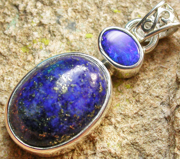 19.00 CTS DOUBLET AND LAPIS PENDANT -FACTORY DIRECT[SOJ950]
