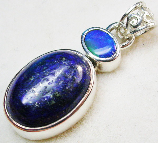 19.00 CTS DOUBLET AND LAPIS PENDANT -FACTORY DIRECT[SOJ952]