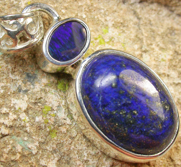20.00 CTS DOUBLET AND LAPIS PENDANT -FACTORY DIRECT[SOJ955]