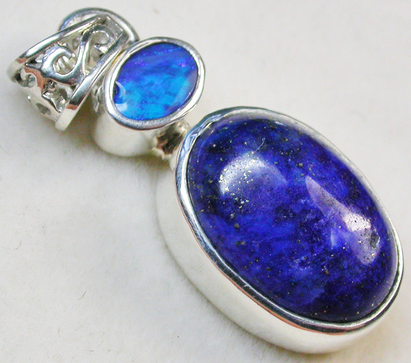 19.00 CTS DOUBLET AND LAPIS PENDANT -FACTORY DIRECT[SOJ956]