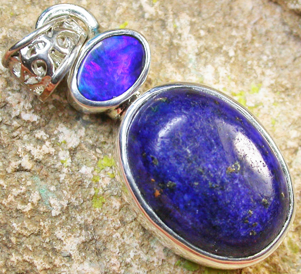 19.00 CTS DOUBLET AND LAPIS PENDANT -FACTORY DIRECT [SOJ958]