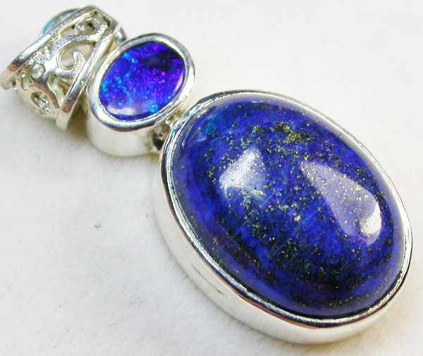 20.00 CTS DOUBLET AND LAPIS PENDANT -FACTORY DIRECT [SOJ964]