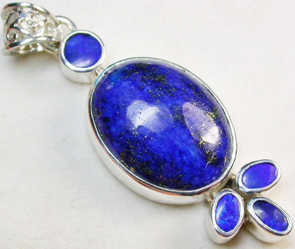 40.00 CTS DOUBLET AND LAPIS PENDANT -FACTORY DIRECT [SOJ967]