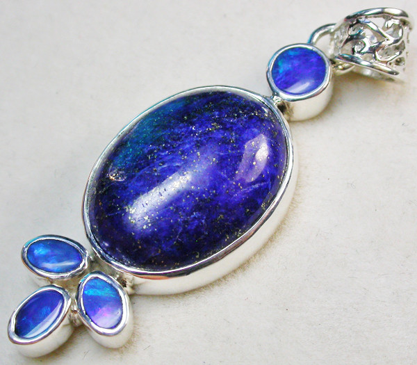 42.00 CTS DOUBLET AND LAPIS PENDANT -FACTORY DIRECT [SOJ968]