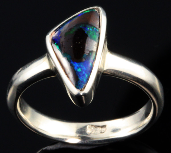 BOULDER OPAL RING--FACTORY DIRECT -RING SIZE 7.5 [SOJ1065]SH