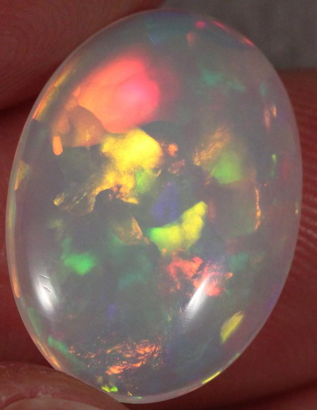 6.8ct Welo Opal. Super Nice Geometric Shapes.