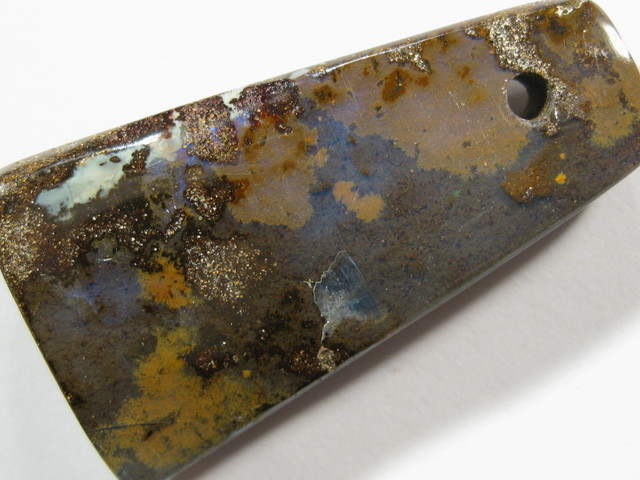 Drilled Boulder Opal from Queensland - Australia.