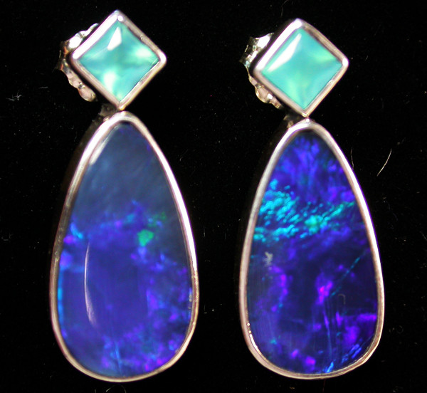 27.20 CTS DOUBLET EARRING/CHALCENDONY-FACTORY DIRECT SOJ1161