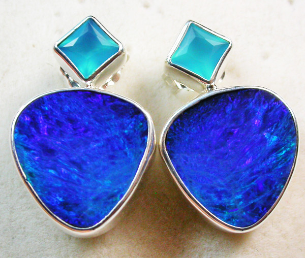 20.10 CTS DOUBLET EARRING/CHALCENDONY-FACTORY DIRECT SOJ1177