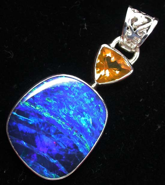 23.9 CTS SOLID OPAL PENDANT SILVER-FACTORY DIRECT [SOJ1245 ]