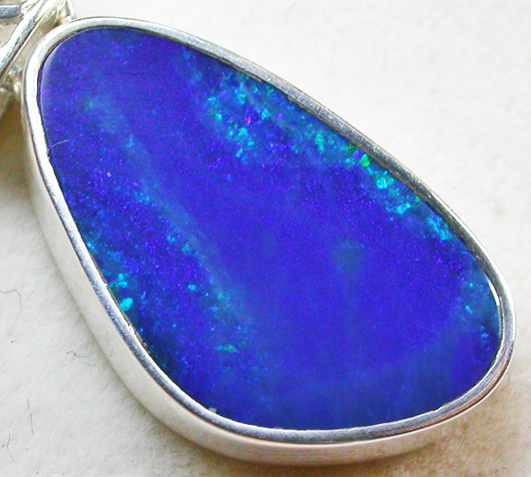15 CTS OPAL DOUBLET PENDANT-DIRECT FACTORY-SILVER [SOJ1250]