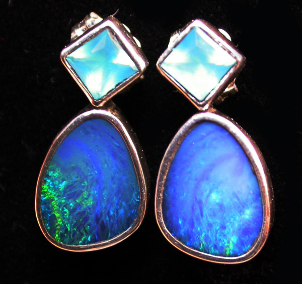 16.75 CTS DOUBLET EARRING/CHALCENDONY-FACTORY DIRECT SOJ1301
