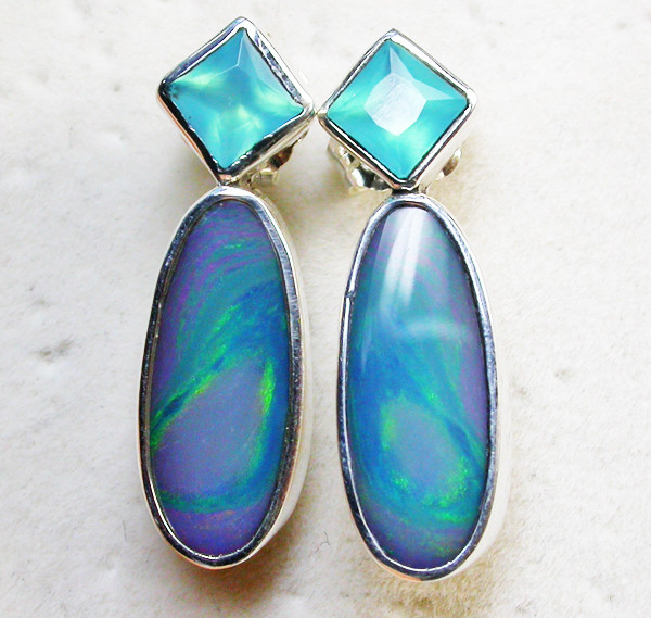 18.50 CTS DOUBLET EARRING/CHALCENDONY-FACTORY DIRECT SOJ1304