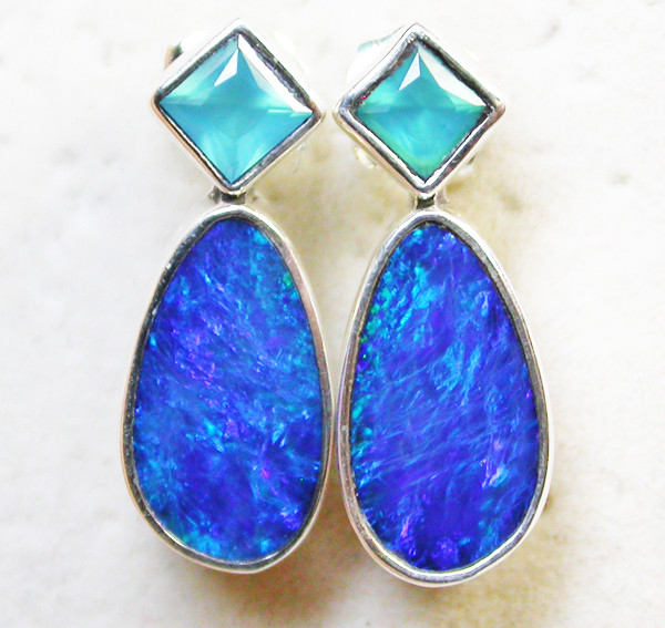 18.30 CTS DOUBLET EARRING/CHALCENDONY-FACTORY DIRECT SOJ1316