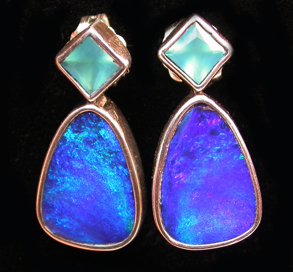 19.95 CTS DOUBLET EARRING/CHALCENDONY-FACTORY DIRECT SOJ1317
