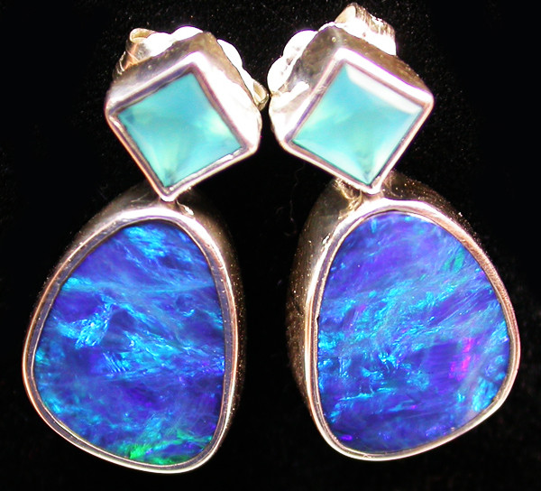 18.55 CTS DOUBLET EARRING/CHALCENDONY-FACTORY DIRECT SOJ1324