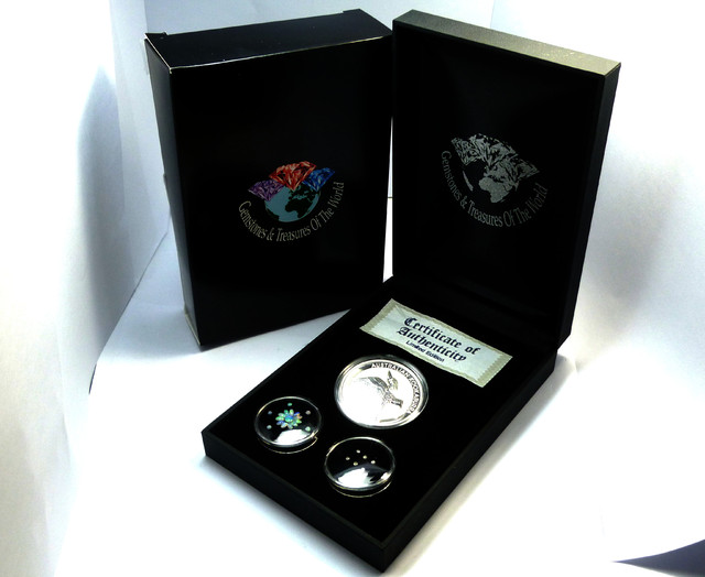 DIAMONDS  OPAL & KOOKABURRA  SILVER COIN SERIES -KM 08