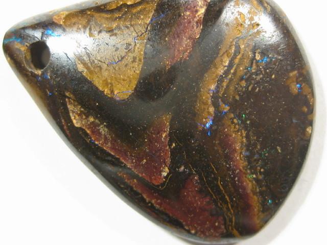 YowahOpals*33.45Cts- Natural Boulder Opal. Drilled.