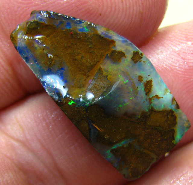 21.10 CTS FACED AND SHAPED BOULDER OPAL READY TO POLISH