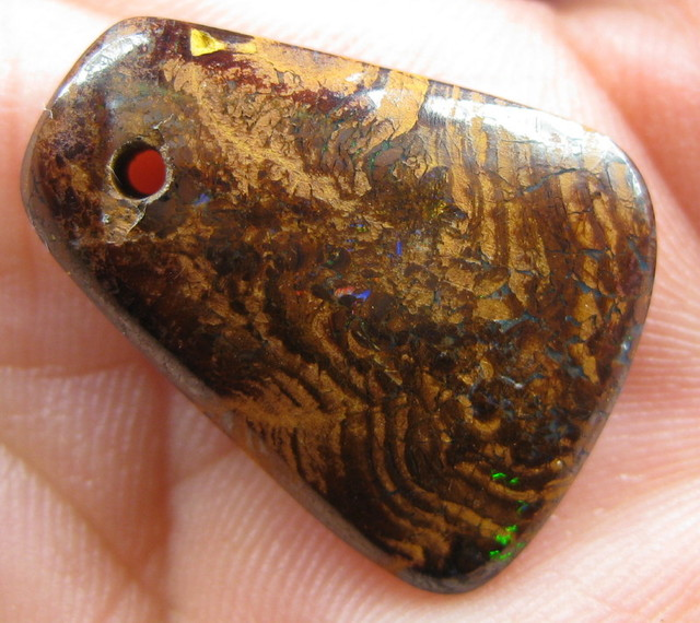 COLOURMINE OPALS~DRILLED BOULDER MATRIX OPAL, 14.45CTS.