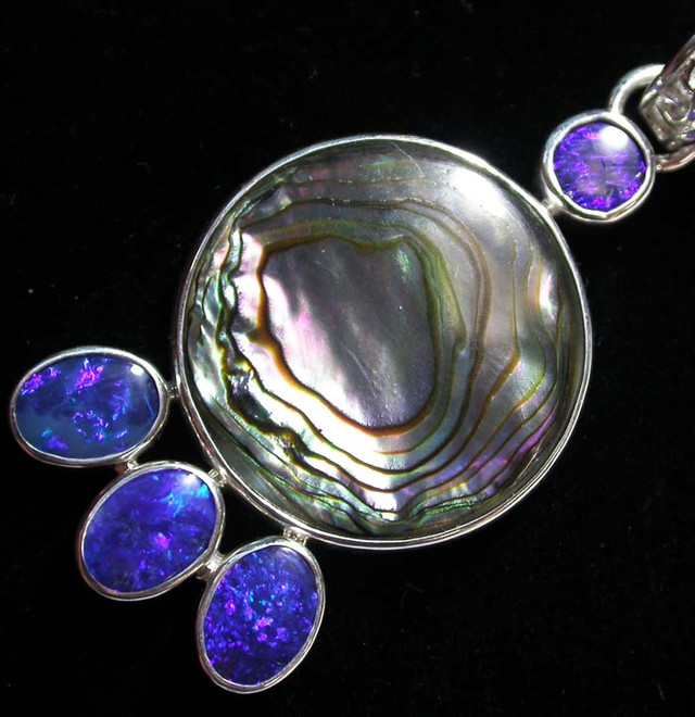 31.40 CTS ABALONE DOUBLET PENDANT -FACTORY [SOJ1601]